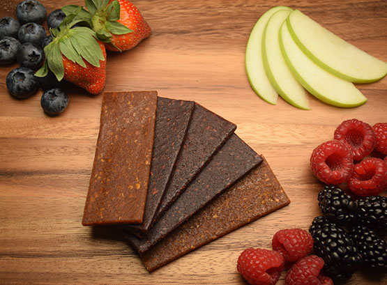 cold pressed fruit bars and strips