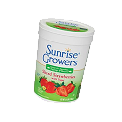 sunrise growers sliced straberries
